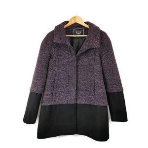 RW&CO.   Purple & Black Tweed Wool Blend Coat